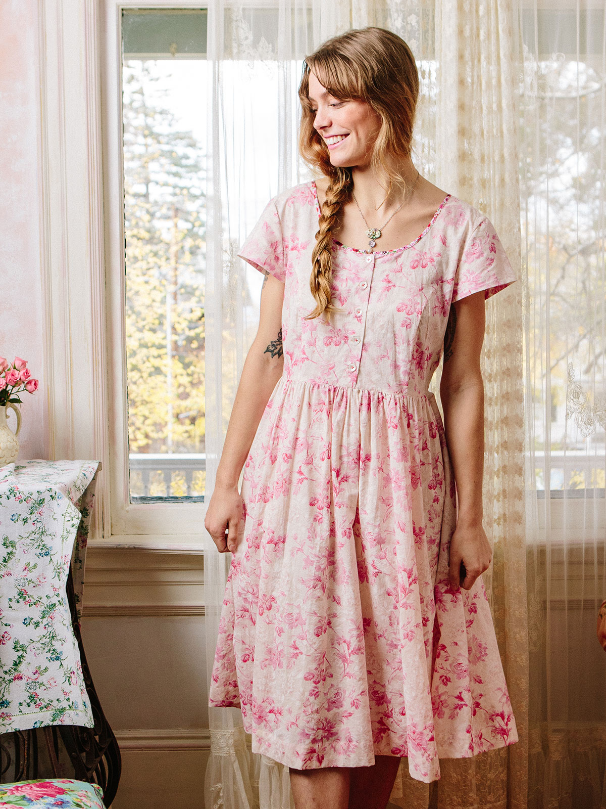Pink Cloud Porch Dress