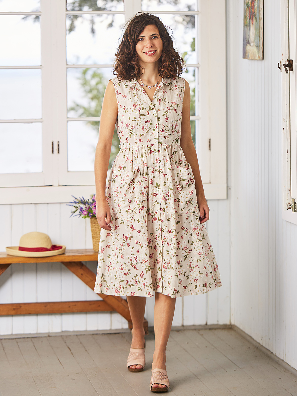 Strawberry Blossom Porch Dress