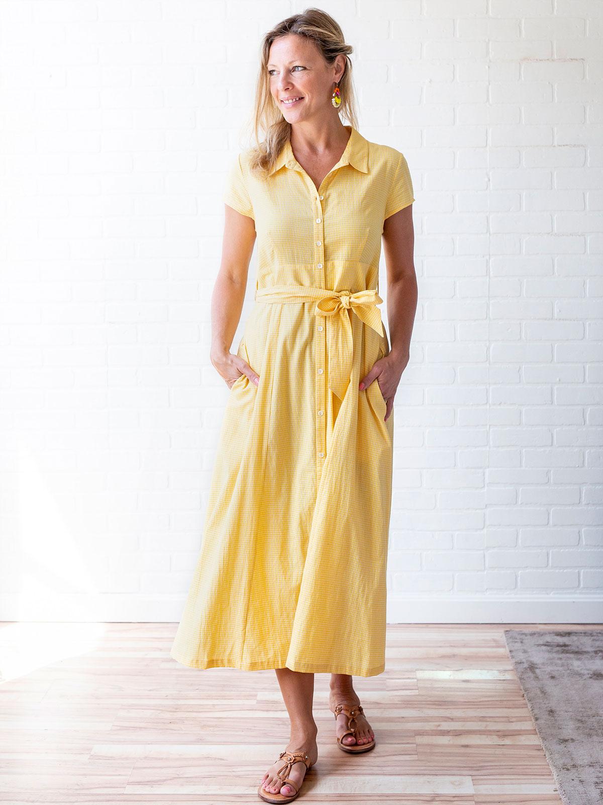 Gingham Check Dress