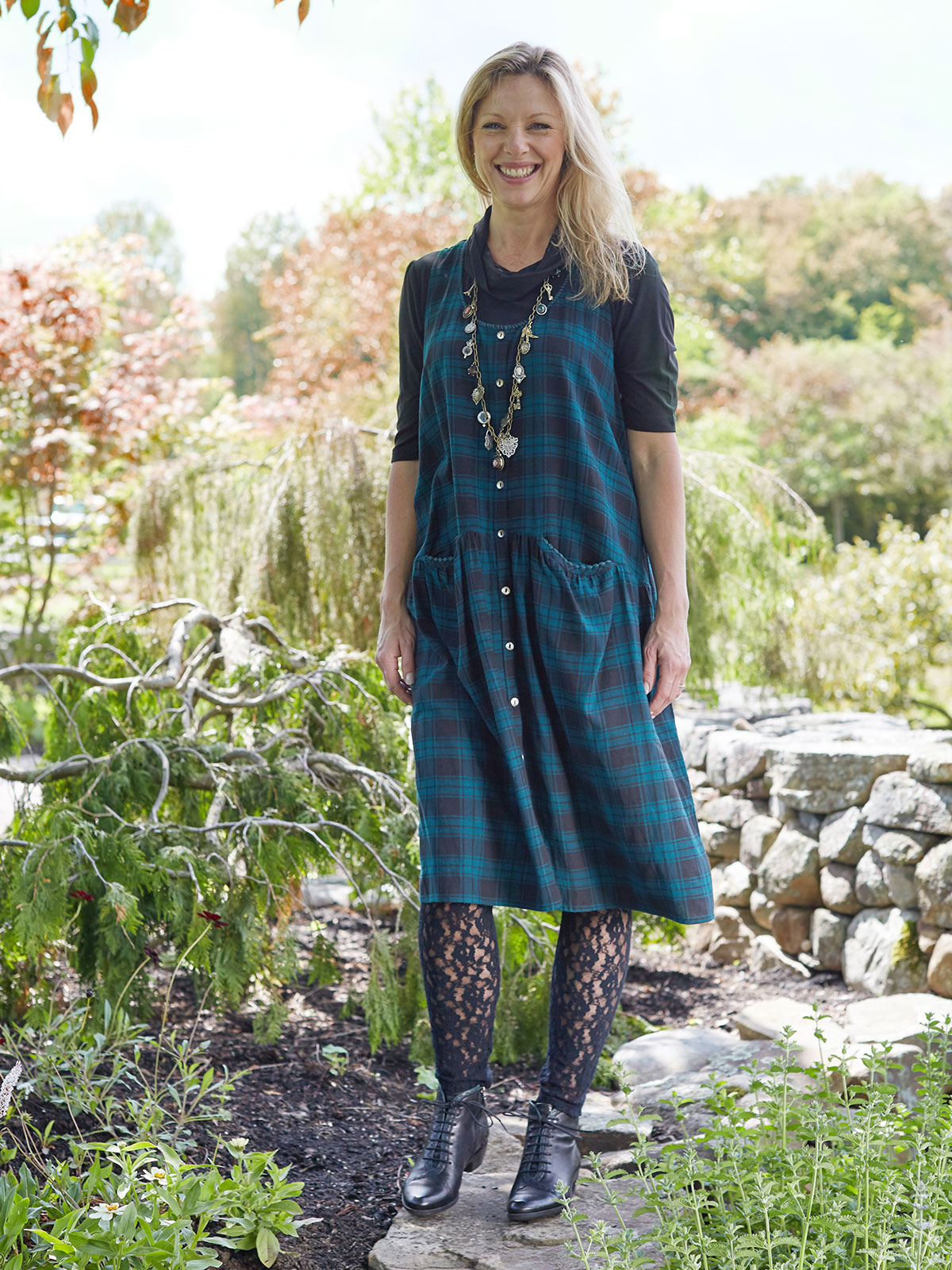 Forest Plaid Dress