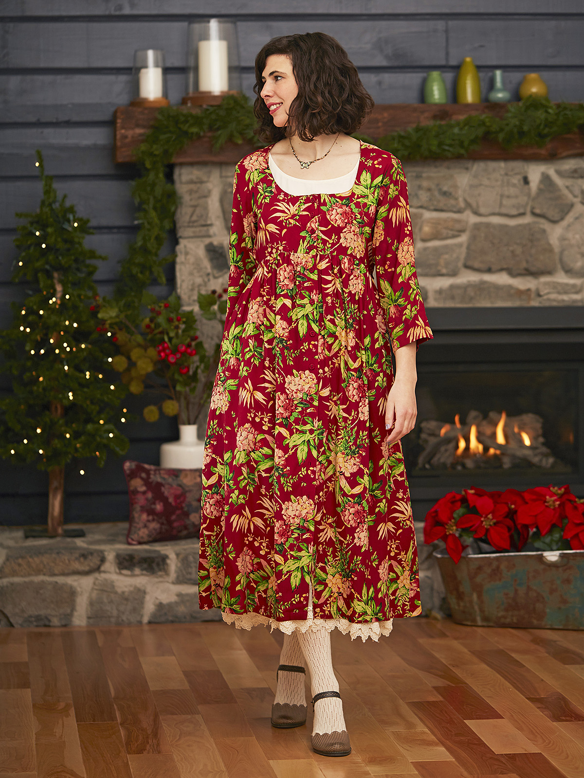 Winter Botanical Dress