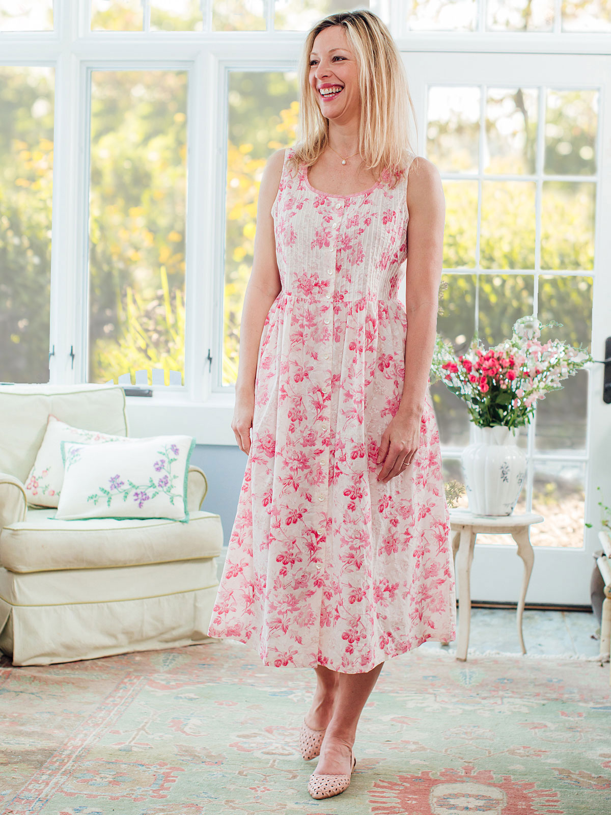 Pink Cloud Sleeveless Dress
