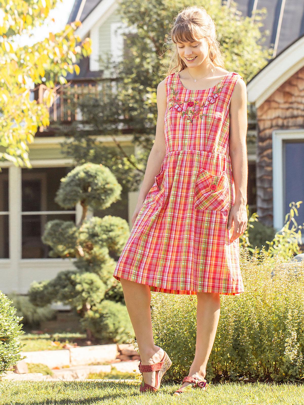 Watermelon Plaid Dress