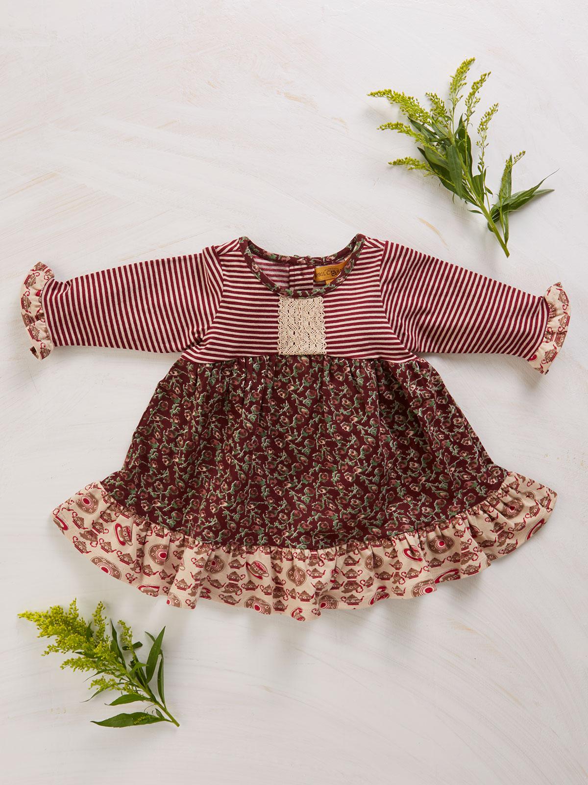 Rosebud Patchwork Baby Dress