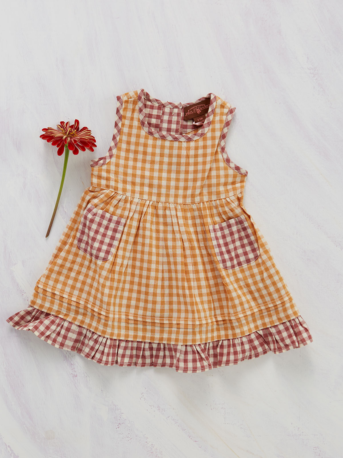 Sweet Tea Pinafore Baby Dress