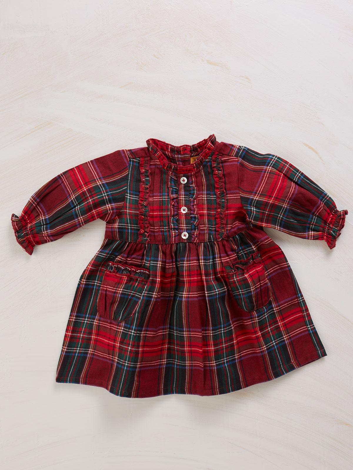 Carole Plaid Baby Dress
