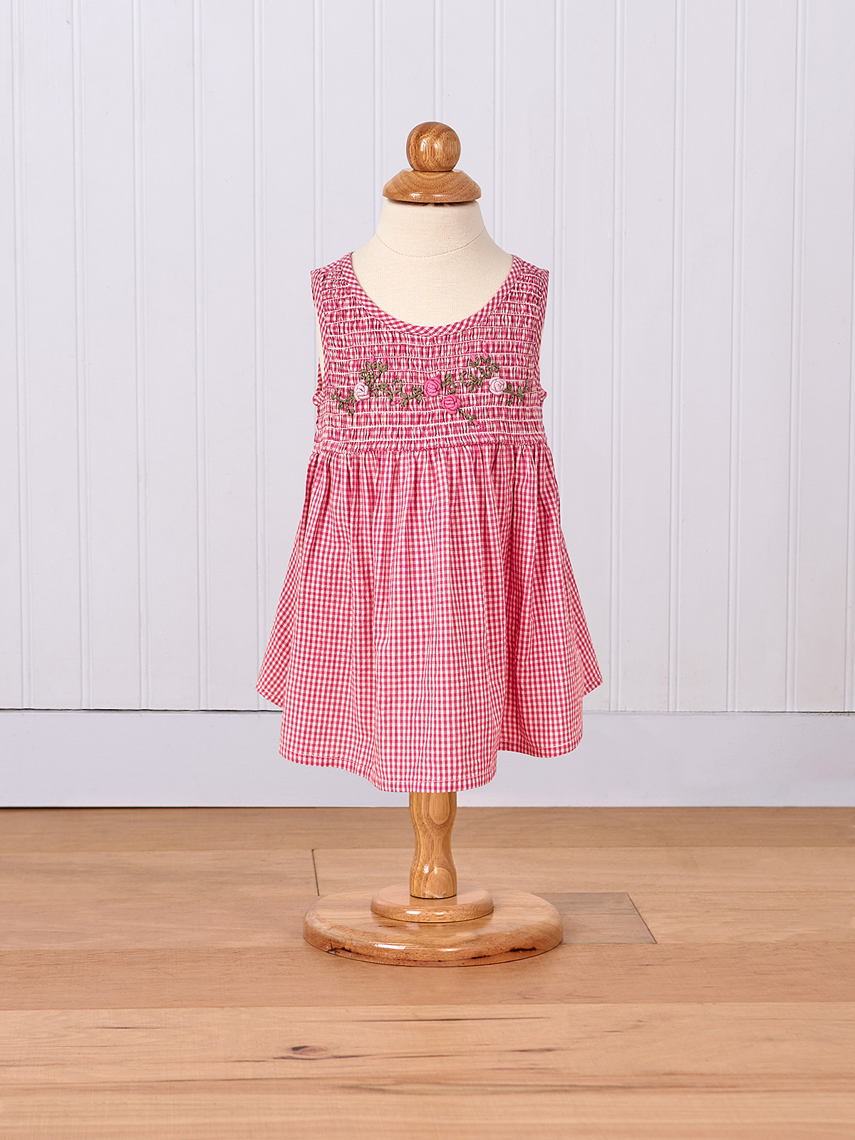 Berry Check Baby Dress