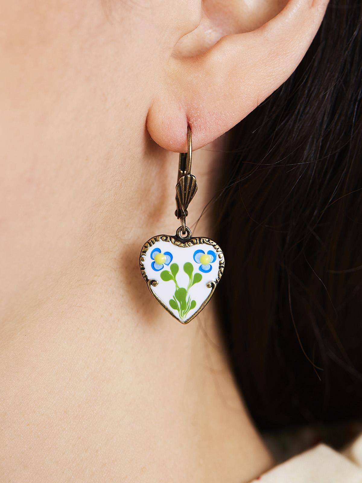 Jill's Garden Heart Earrings