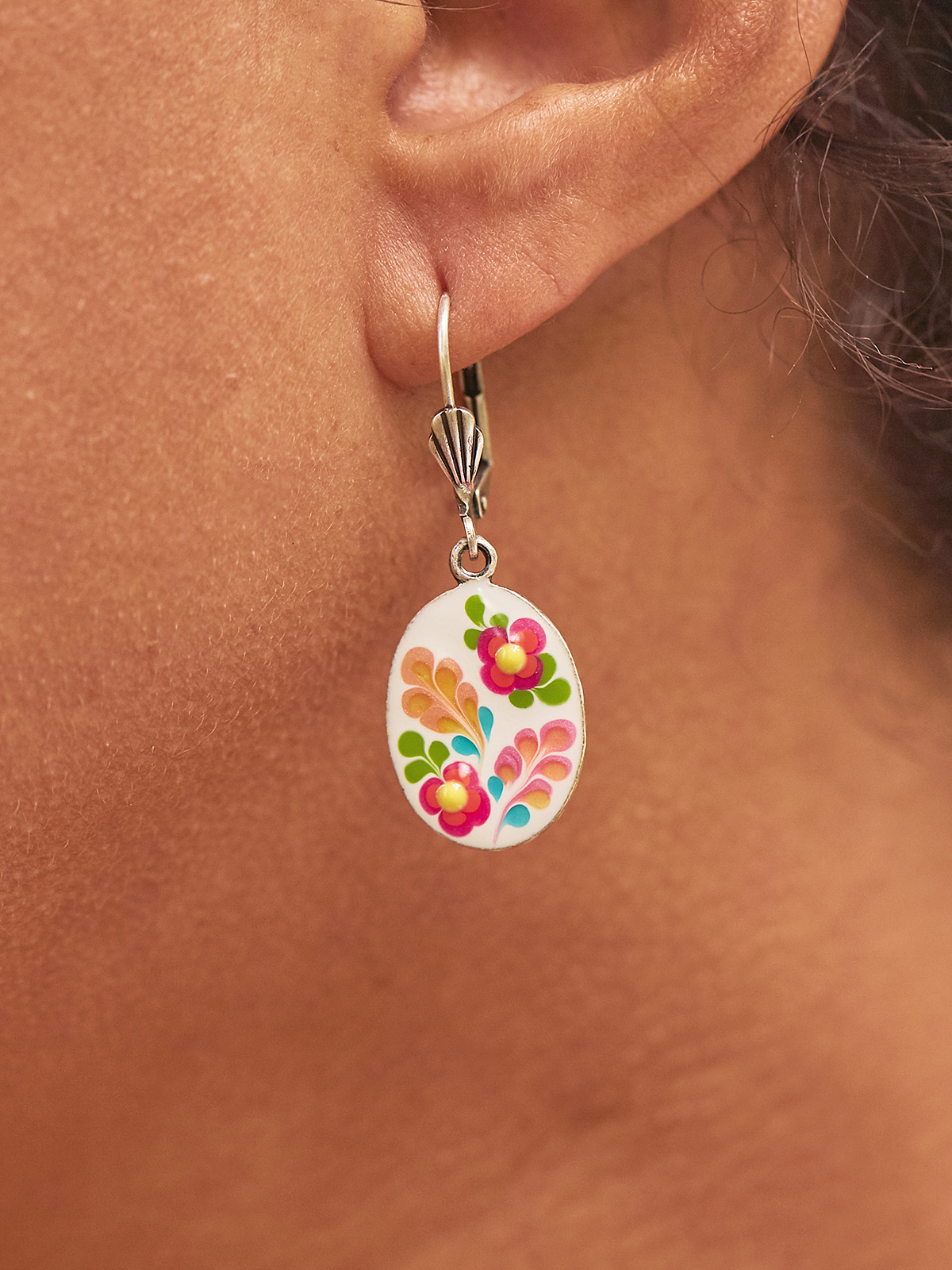 Garden Oval Earrings