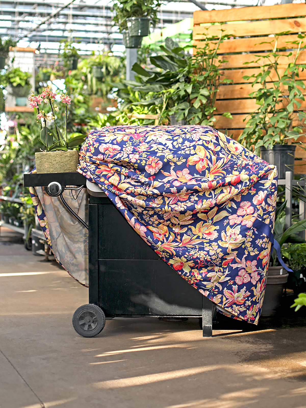 Orchid Study Outdoor Grill Cover