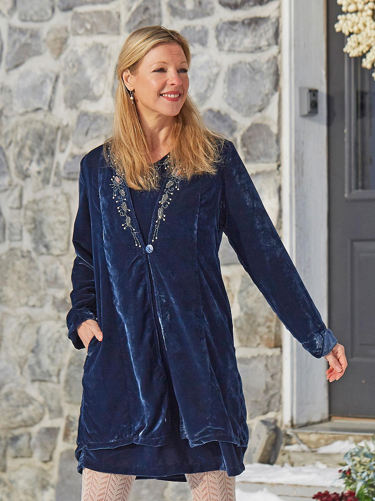 Sapphire Velvet Jacket
