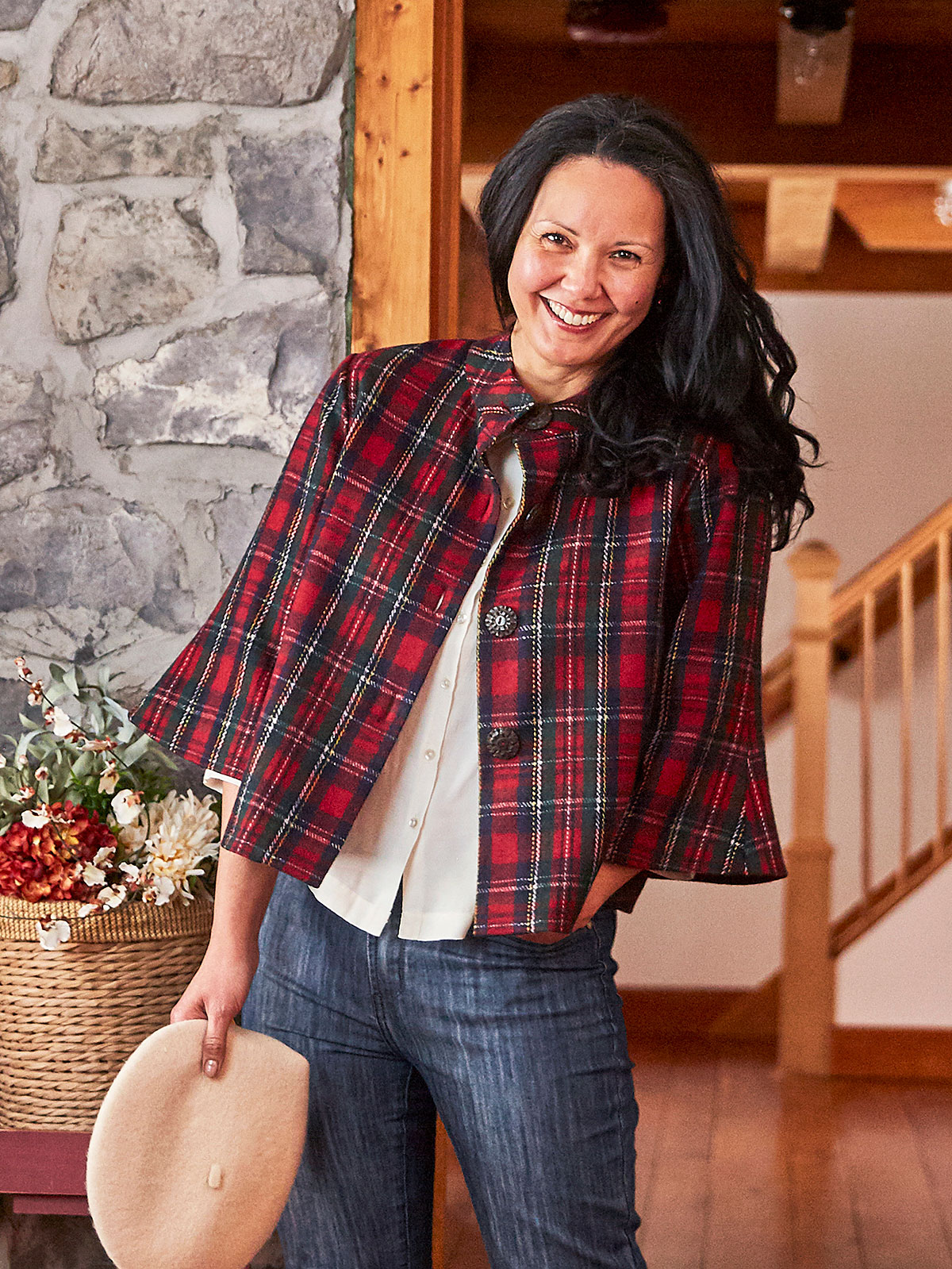 Jamie Plaid Swing Coat