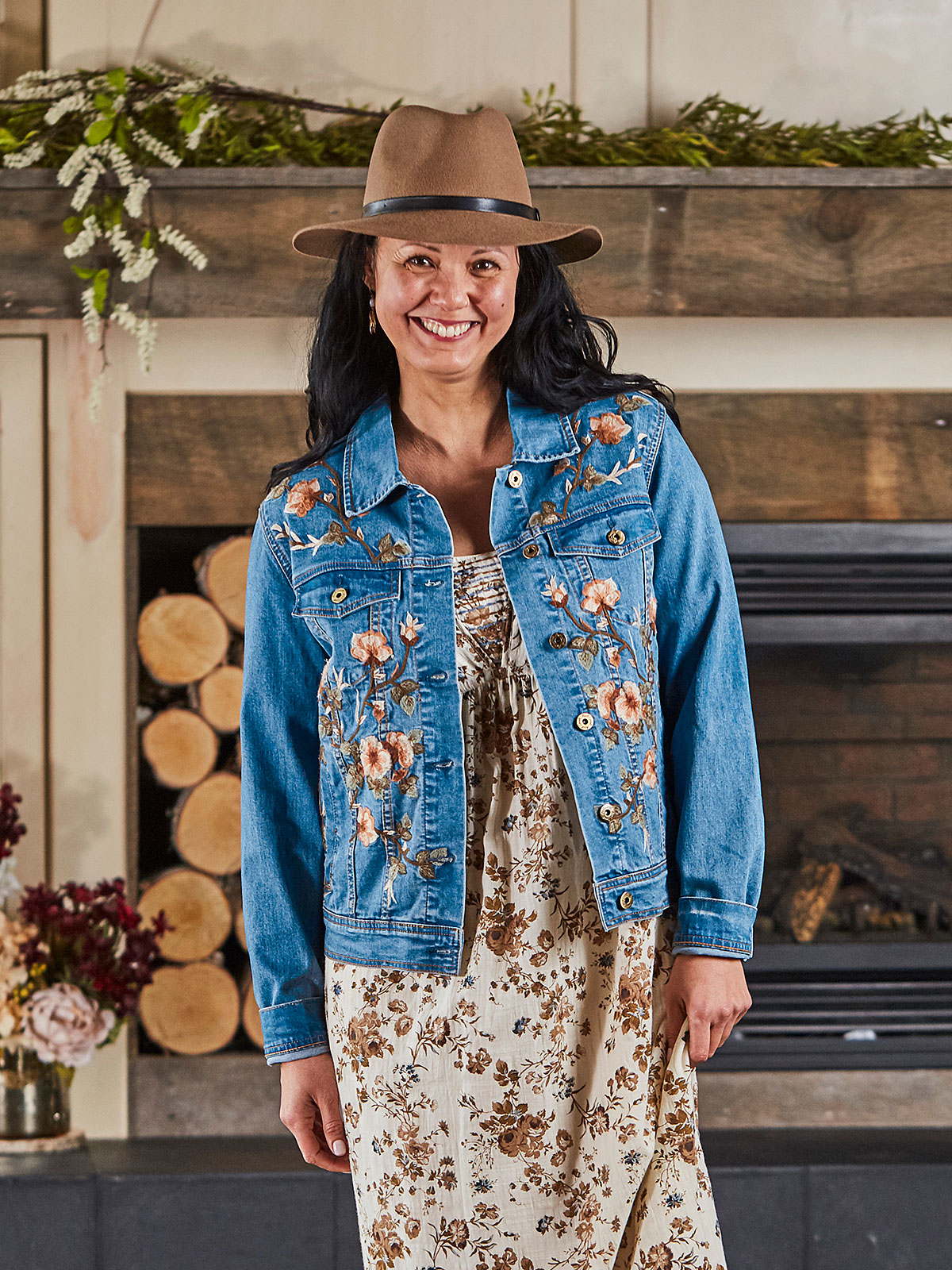 Cottage Rose Jean Jacket