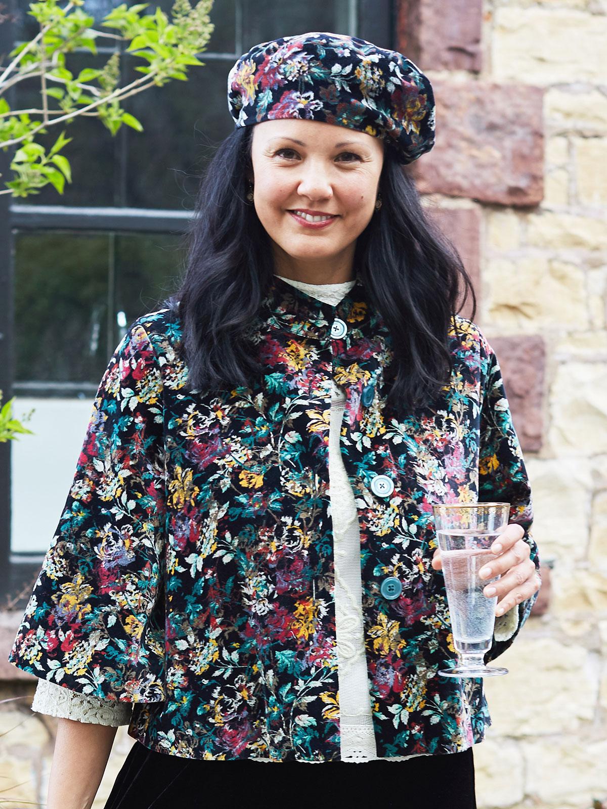 Greta's Garden Velvet Swing Coat