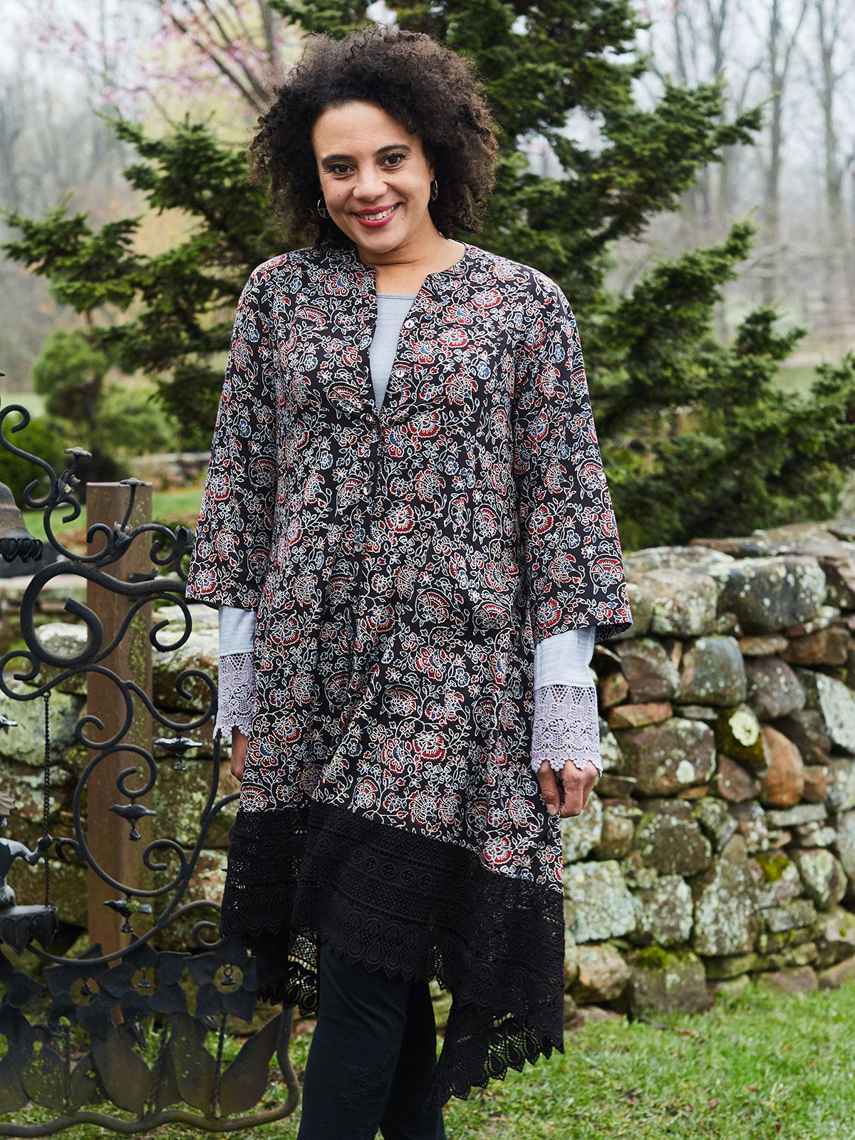 Jaipuri Rose Jacket