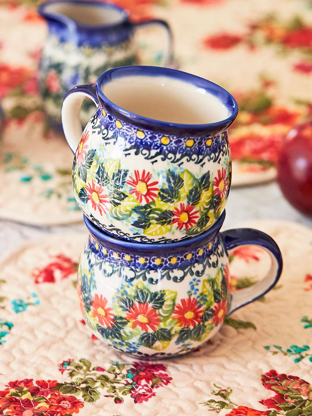 Harvest Daisy Bubble Mug Set of 2