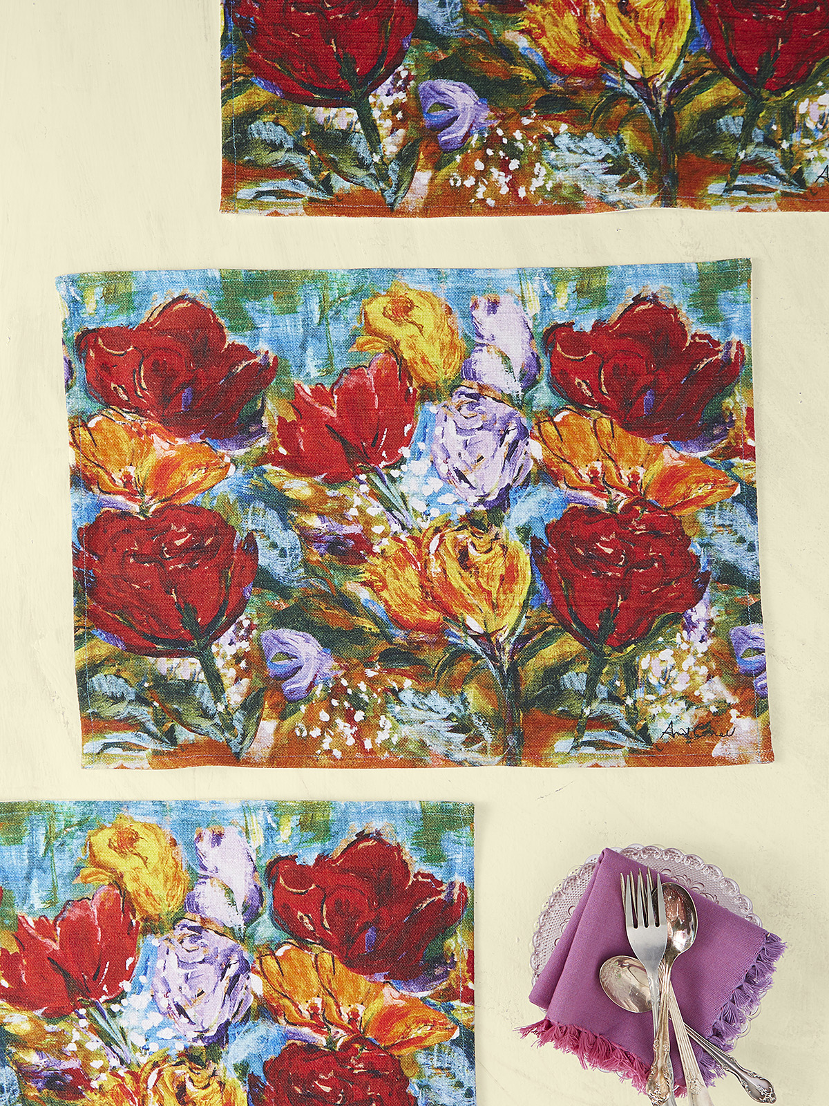 Always Roses Placemat Set of 4