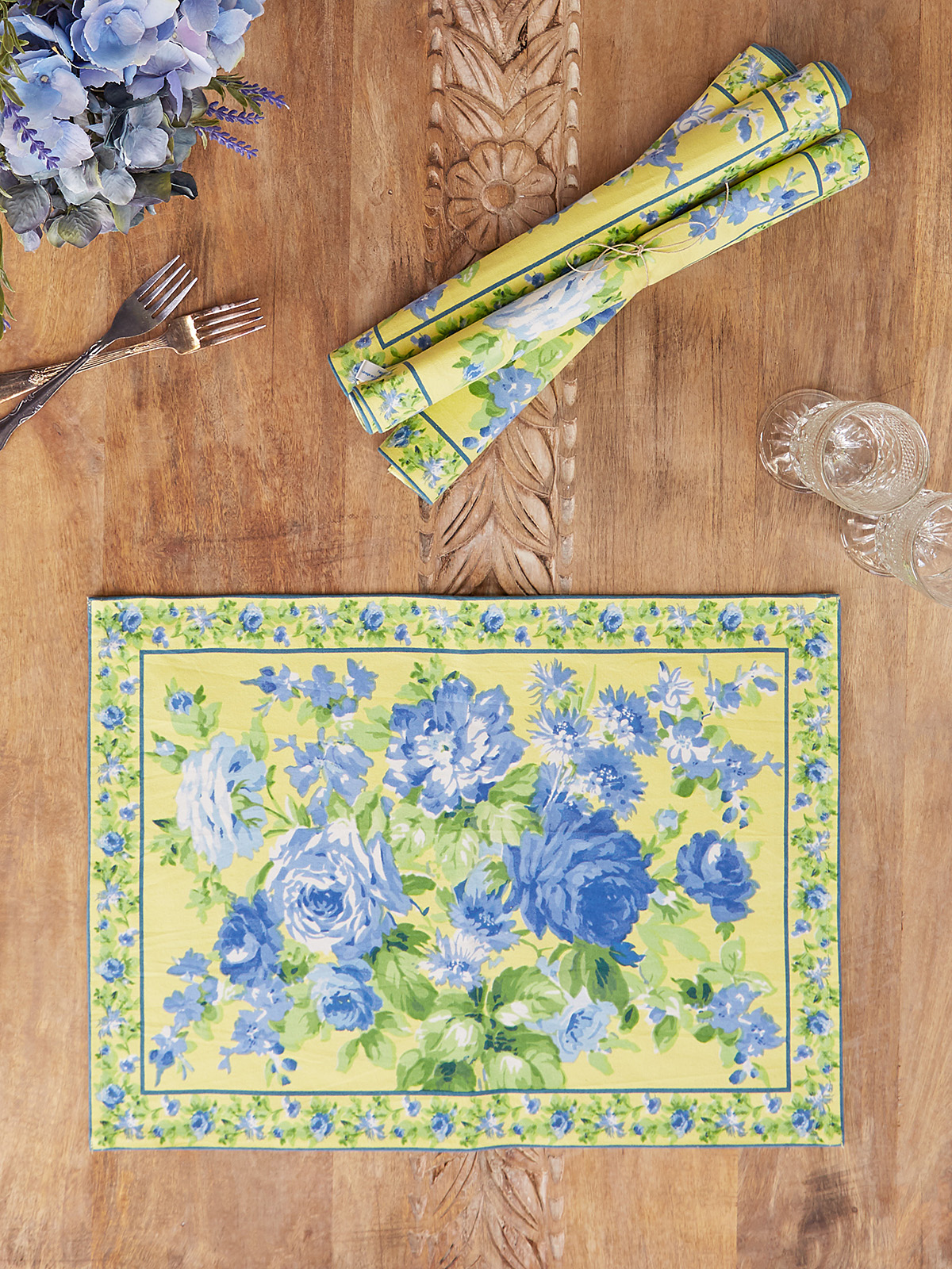 Cottage Rose Placemats Set of 4