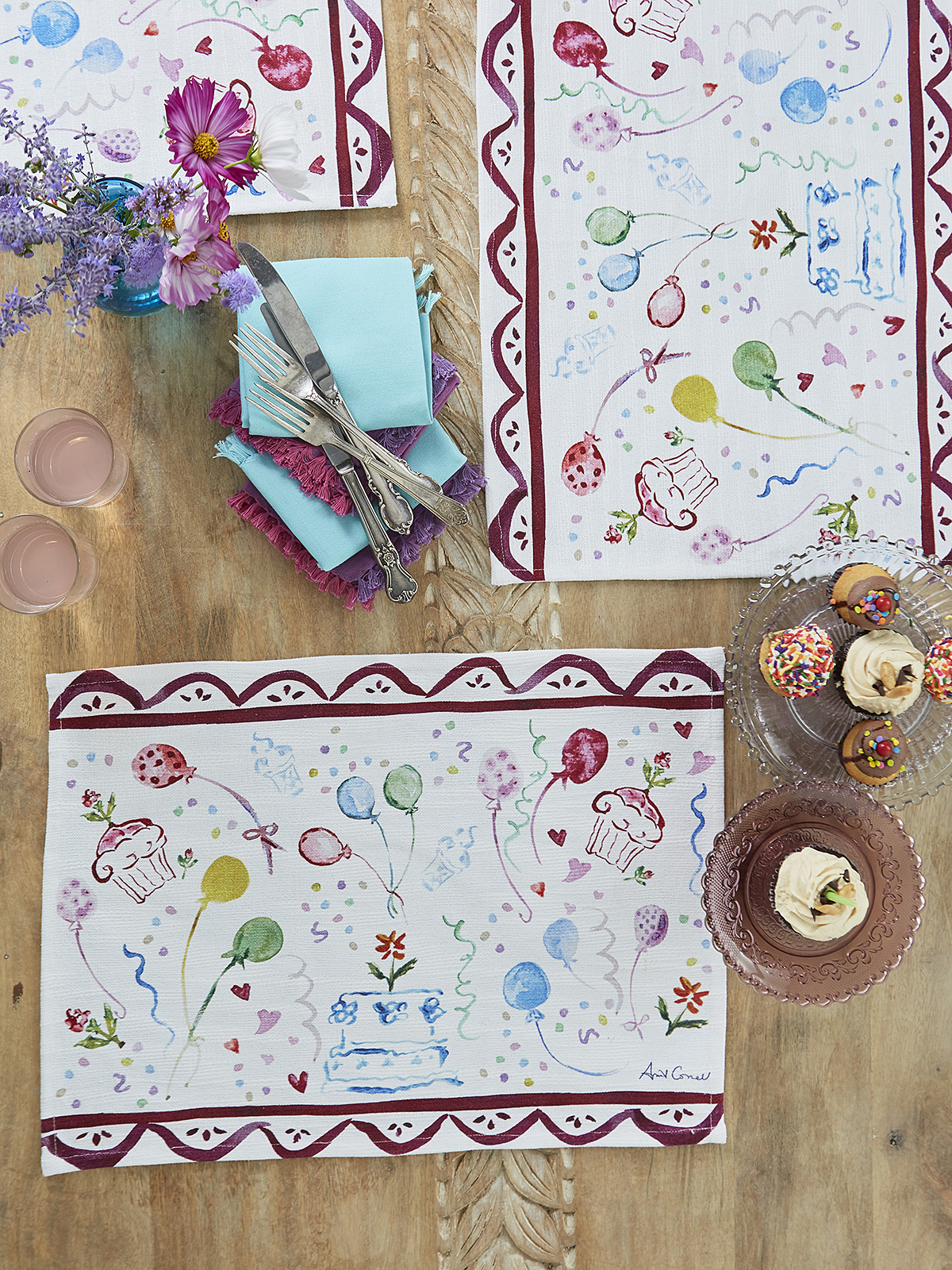 Happy Birthday Placemat Set of 4