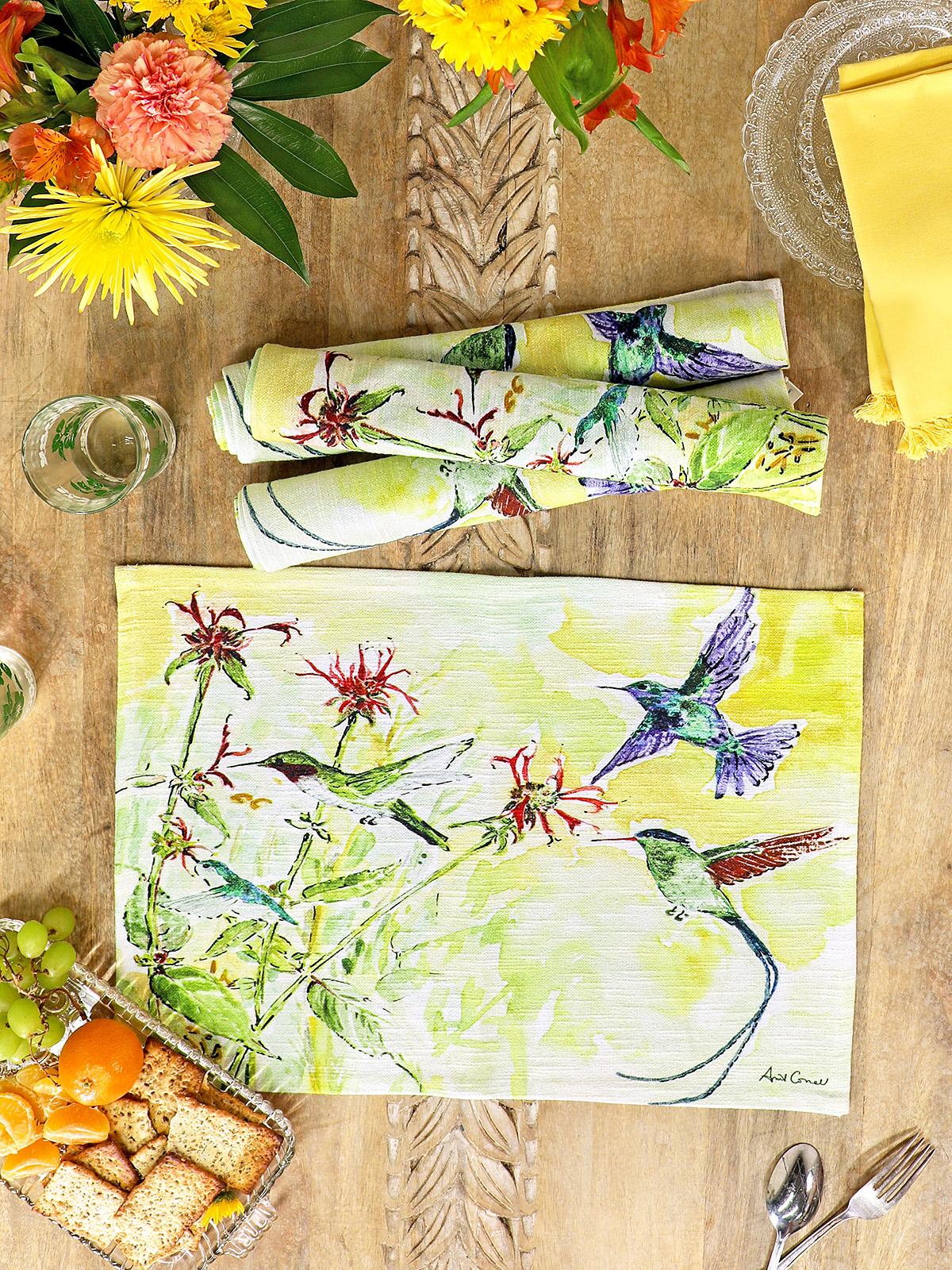 Hummingbird Placemat Set of 4