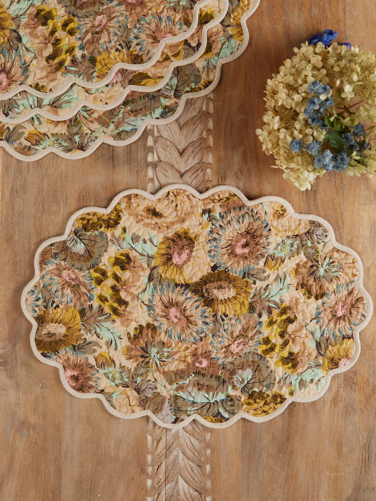 Autumn Gathering Quilted Placemat Set of 4