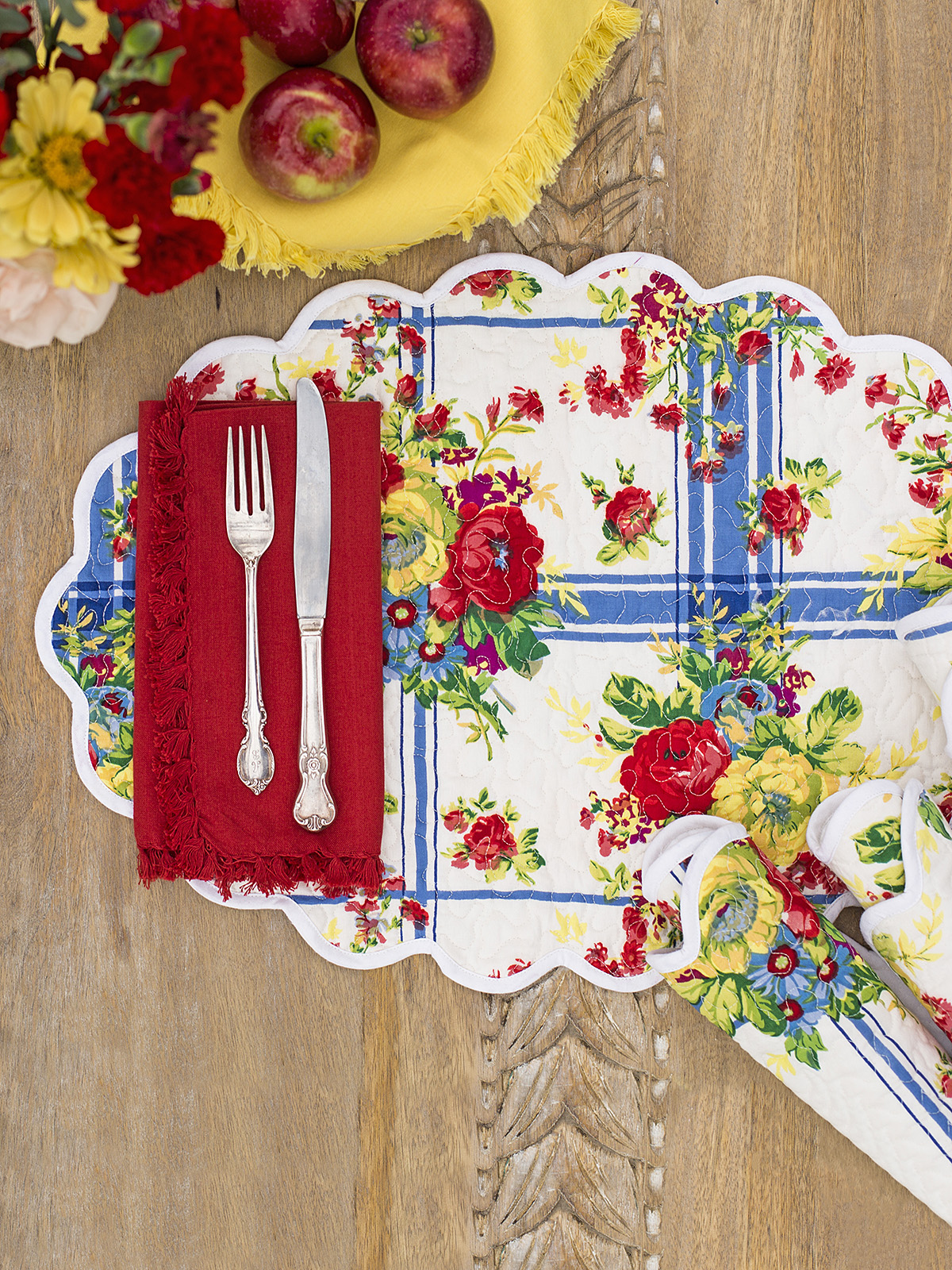 Cornwall Cottage Quilted Placemat Set of 4
