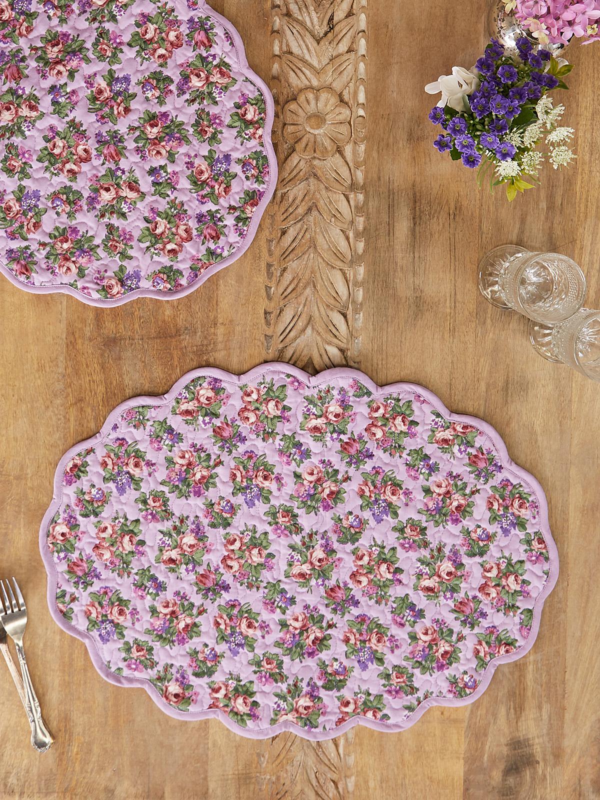 Elizabeth's Garden Quilted Placemat Set of 4