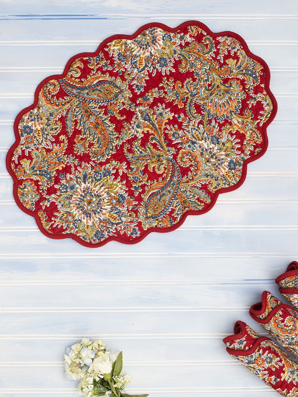 Rhapsody Paisley Quilted Placemat Set of 4