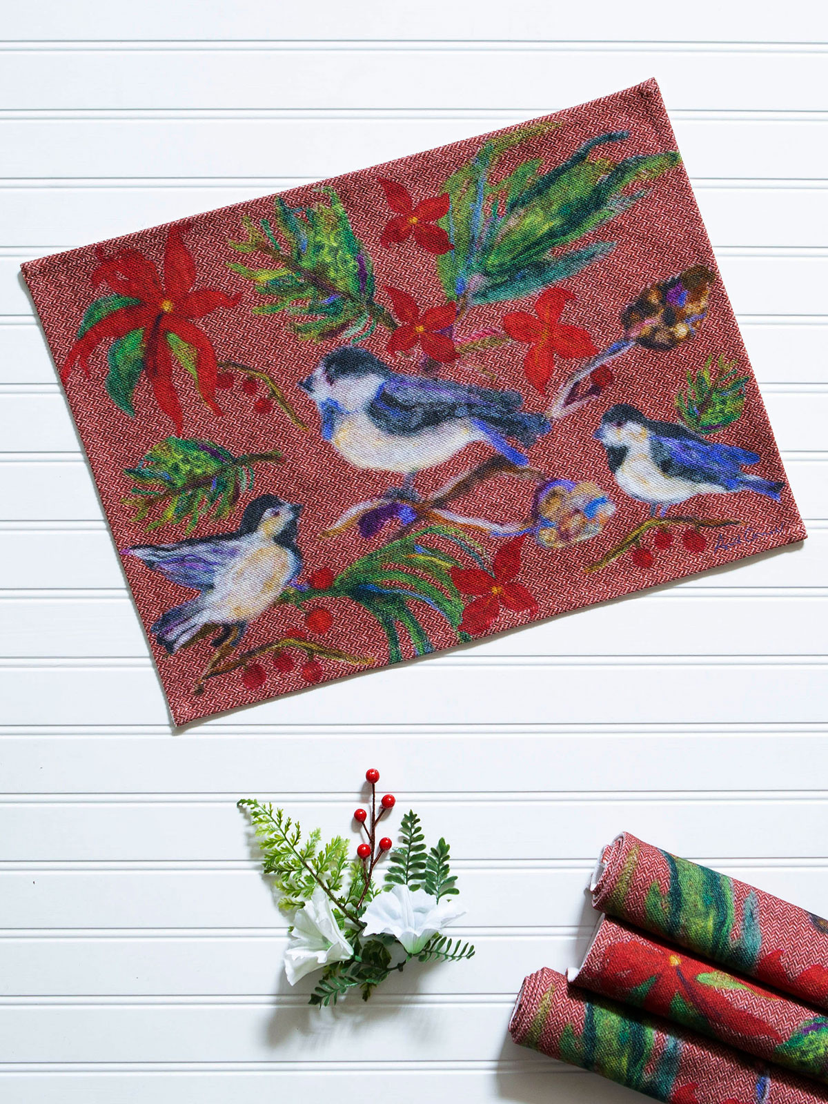 Woodland Christmas Placemat Set of 4