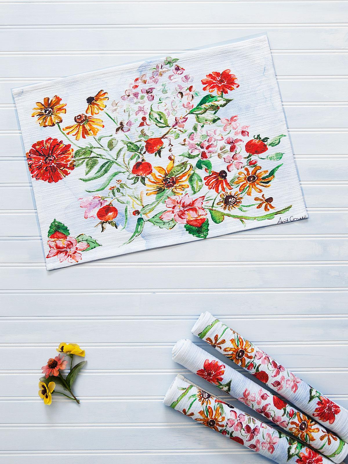 Zinnia Bouquet Placemat Set of 4
