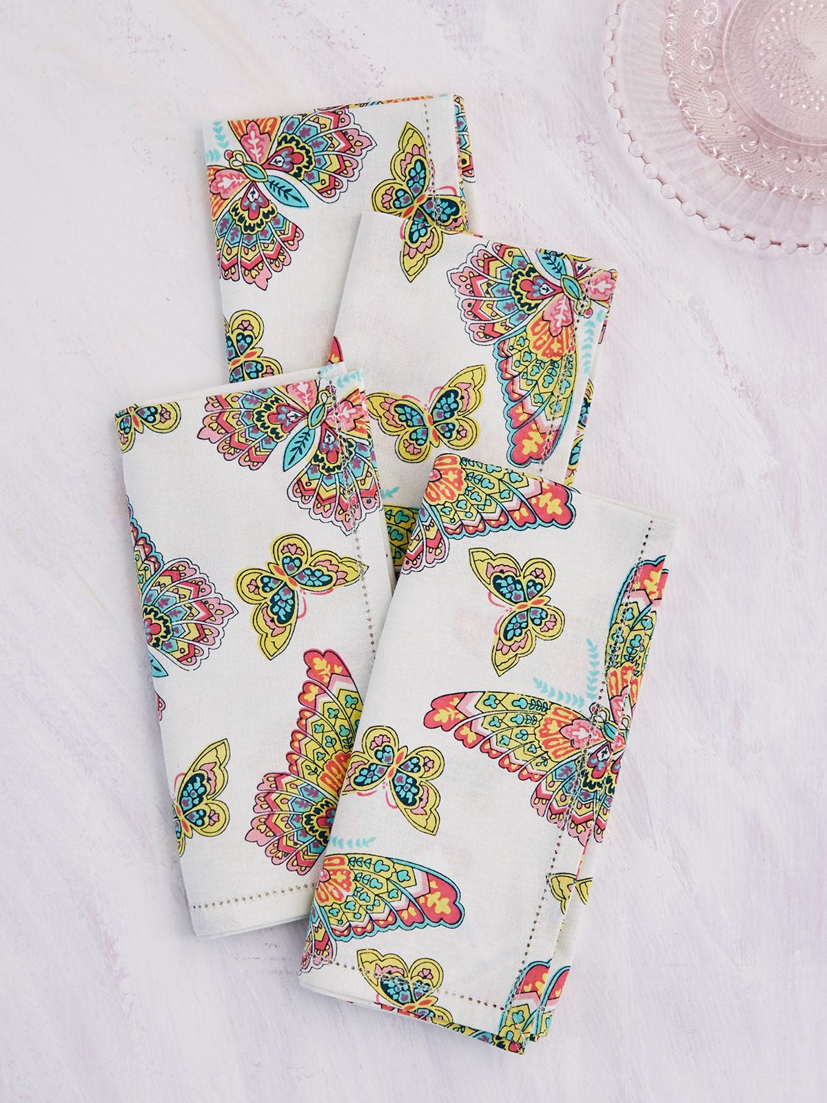 Butterfly Napkin Set of 4