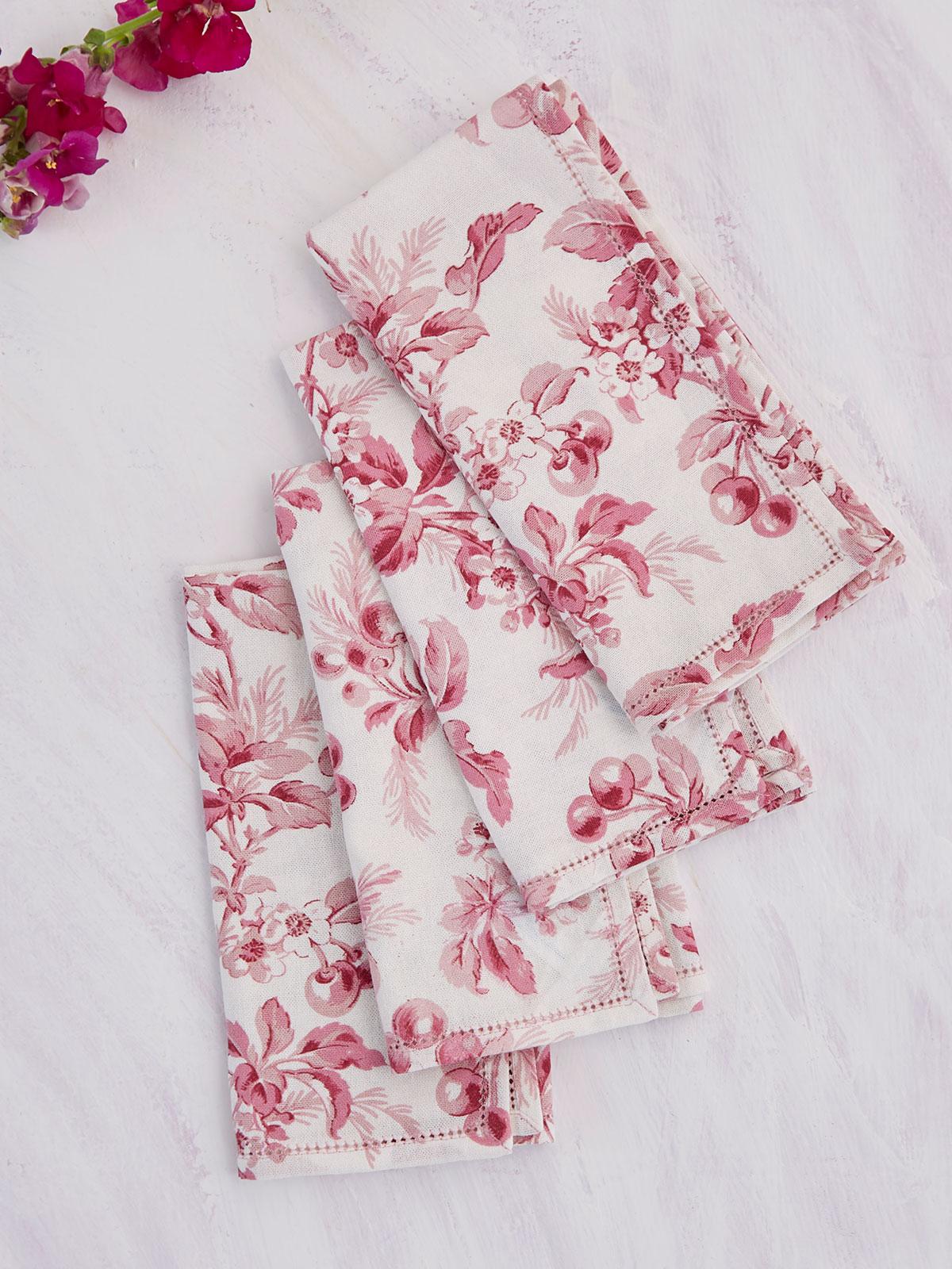Cherry Blossom Napkin Set of 4