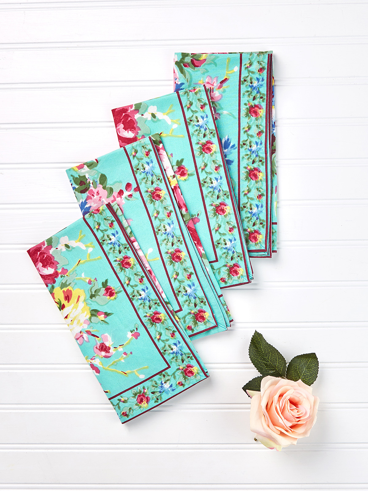 Cottage Rose Napkin Set of 4