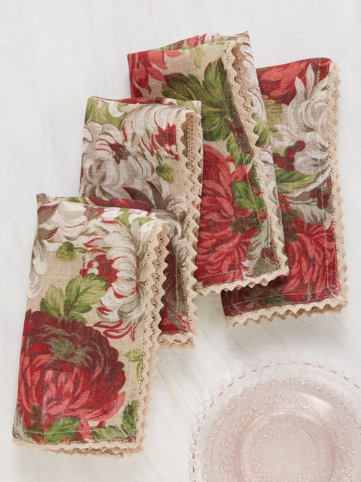 Ava Linen Napkin Set of 4
