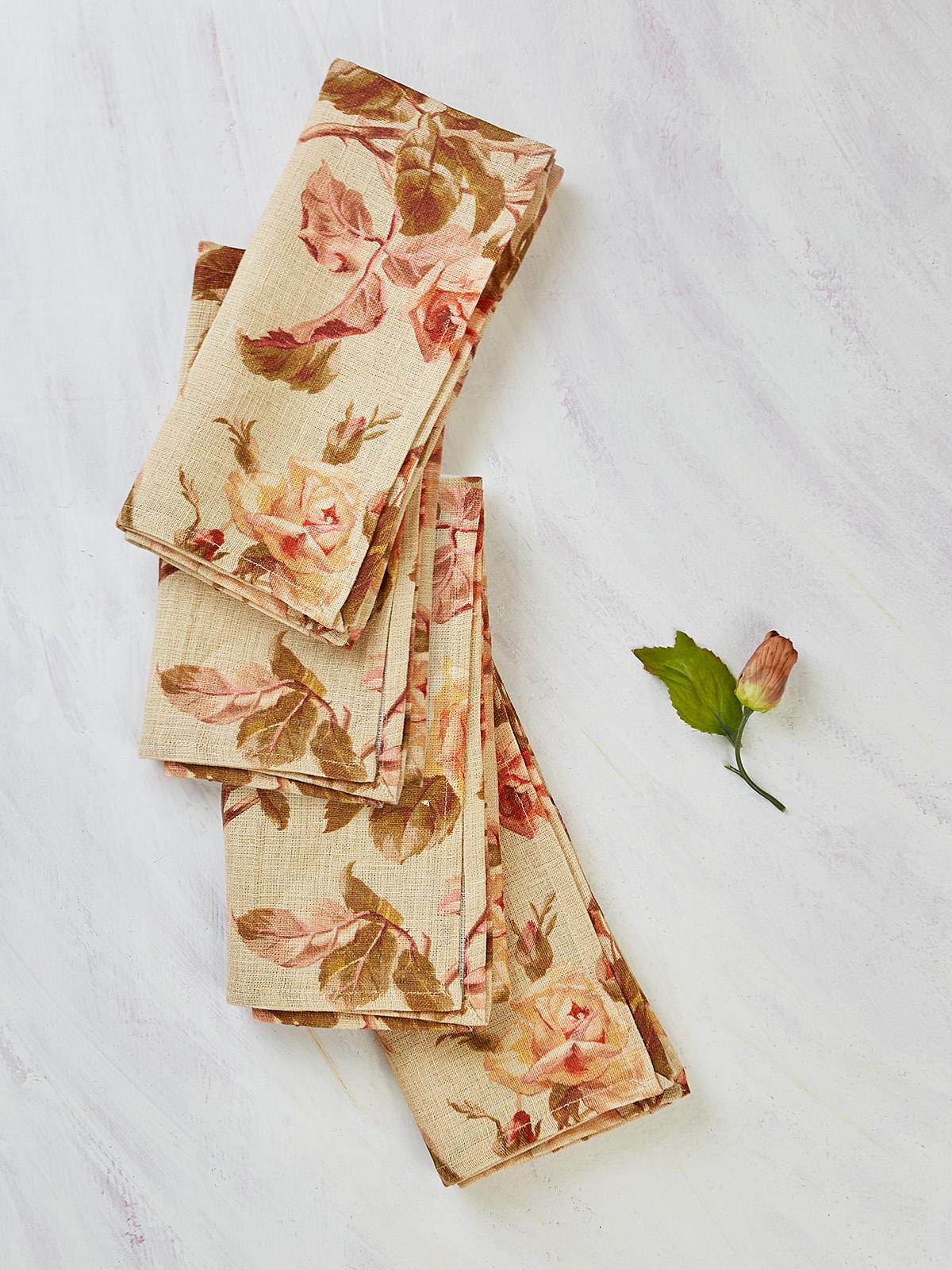 Serenade Linen Napkin Set of 4