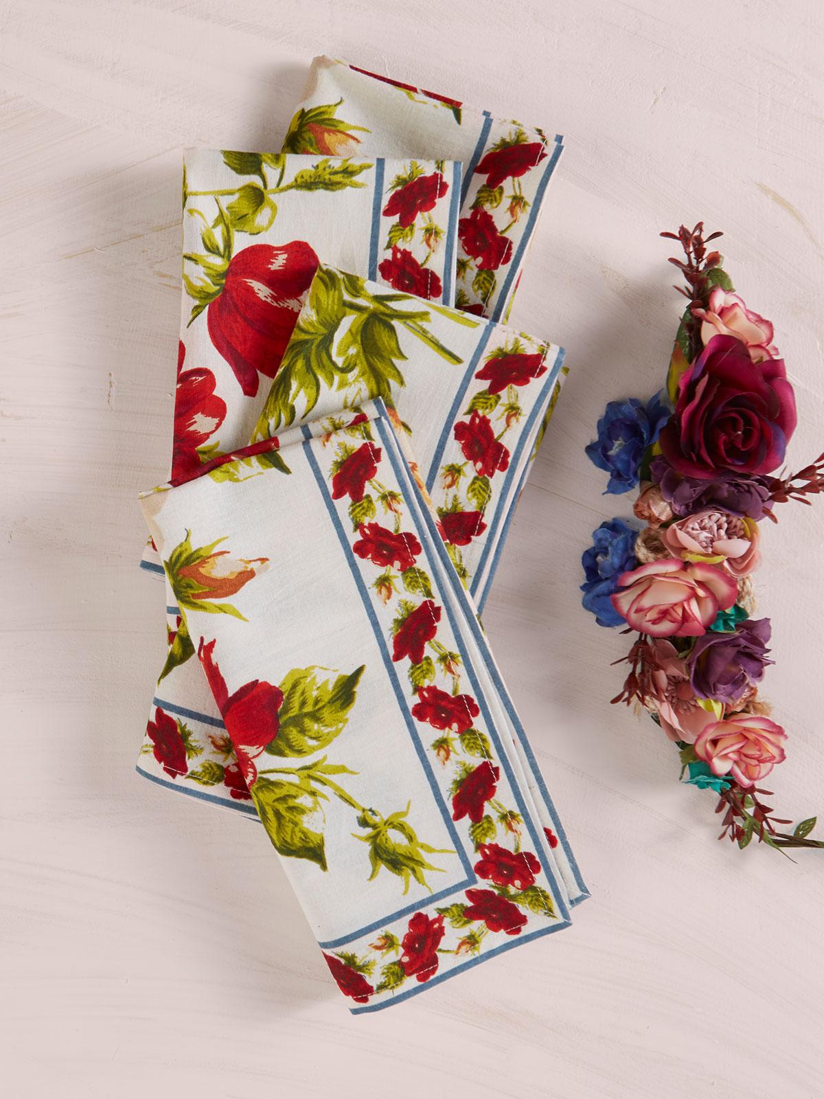 Poppy Napkin Set of 4