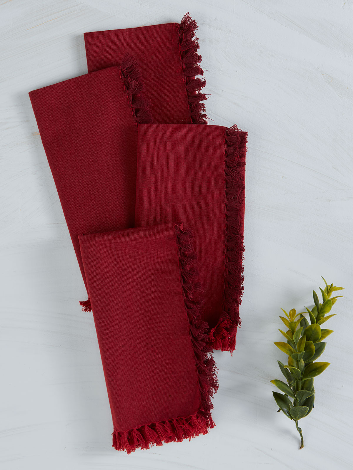Chambray Napkin Set of 4 - Red