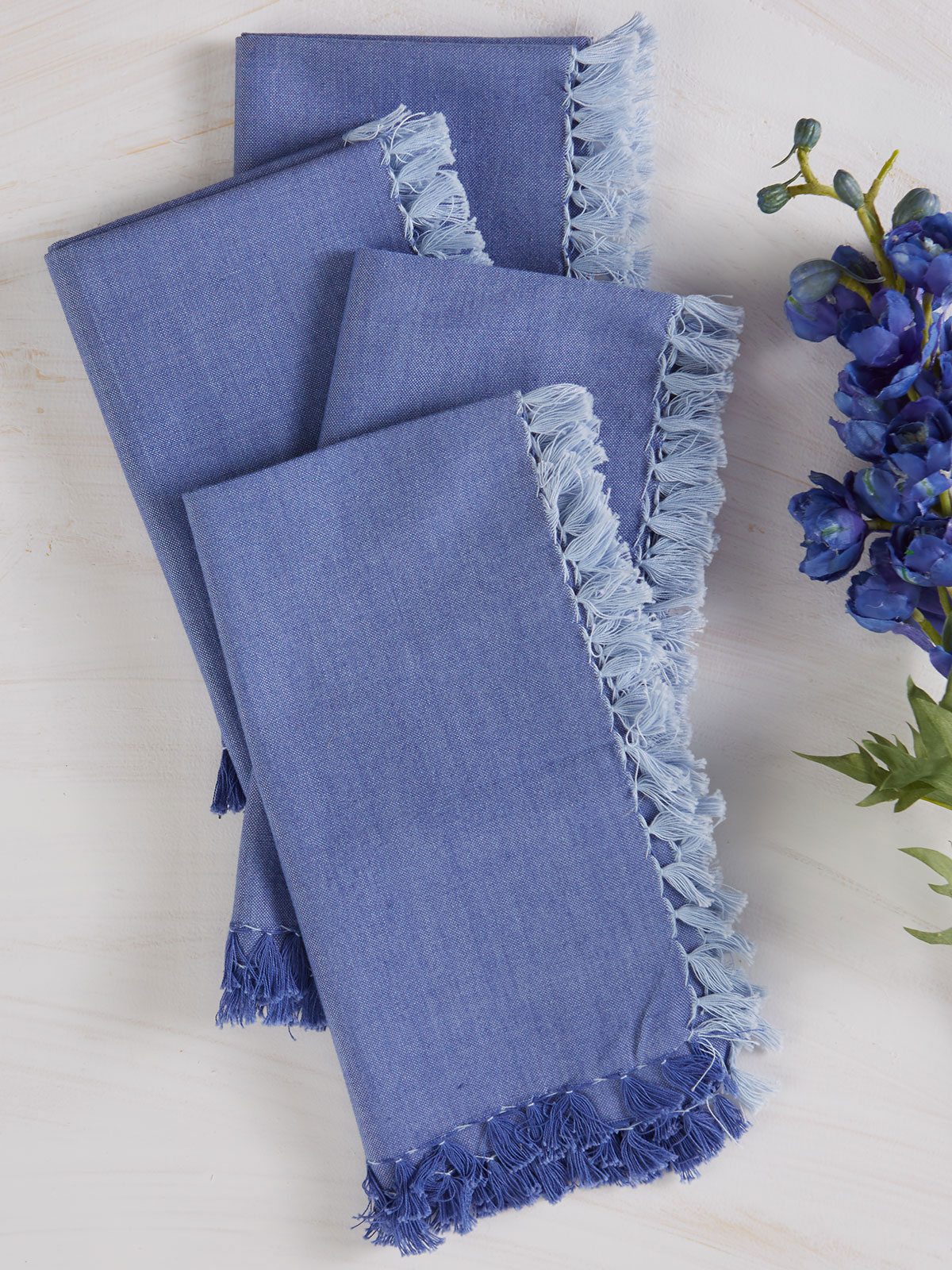 Chambray Napkin Set of 4 - Blue