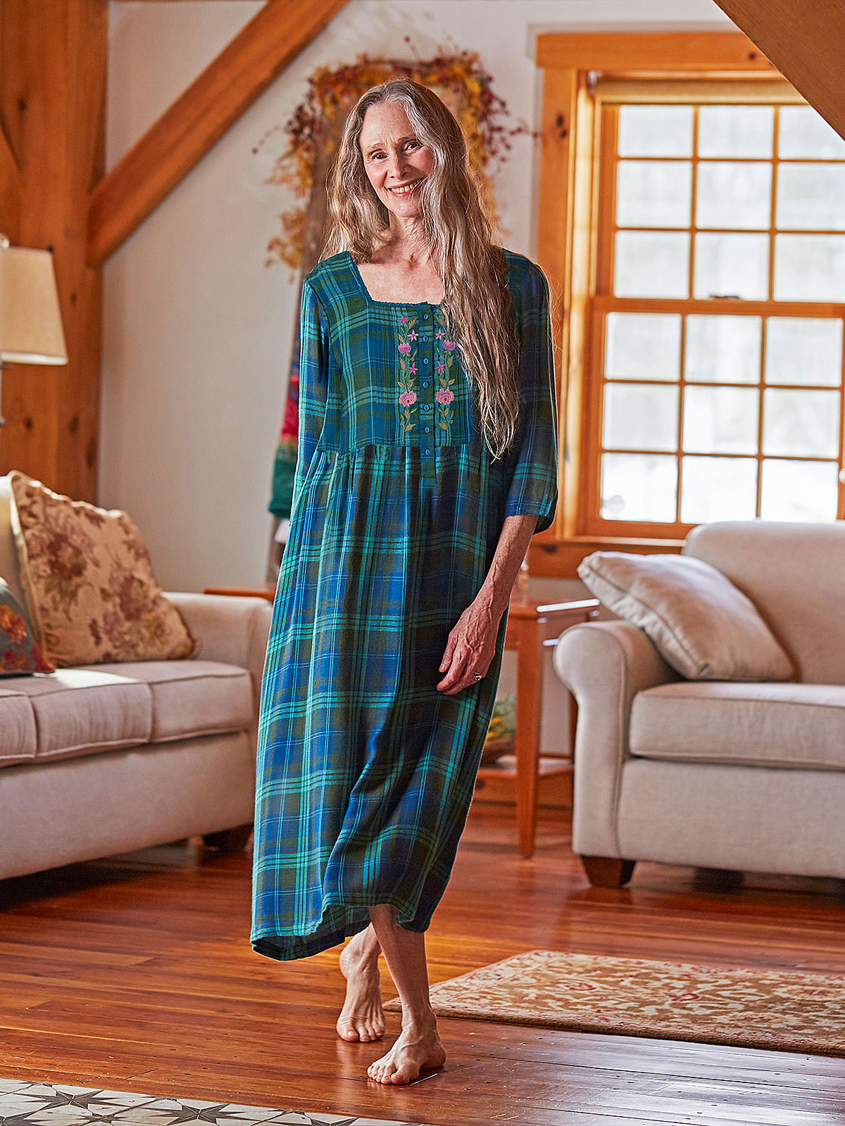 Pine Plaid Nighty