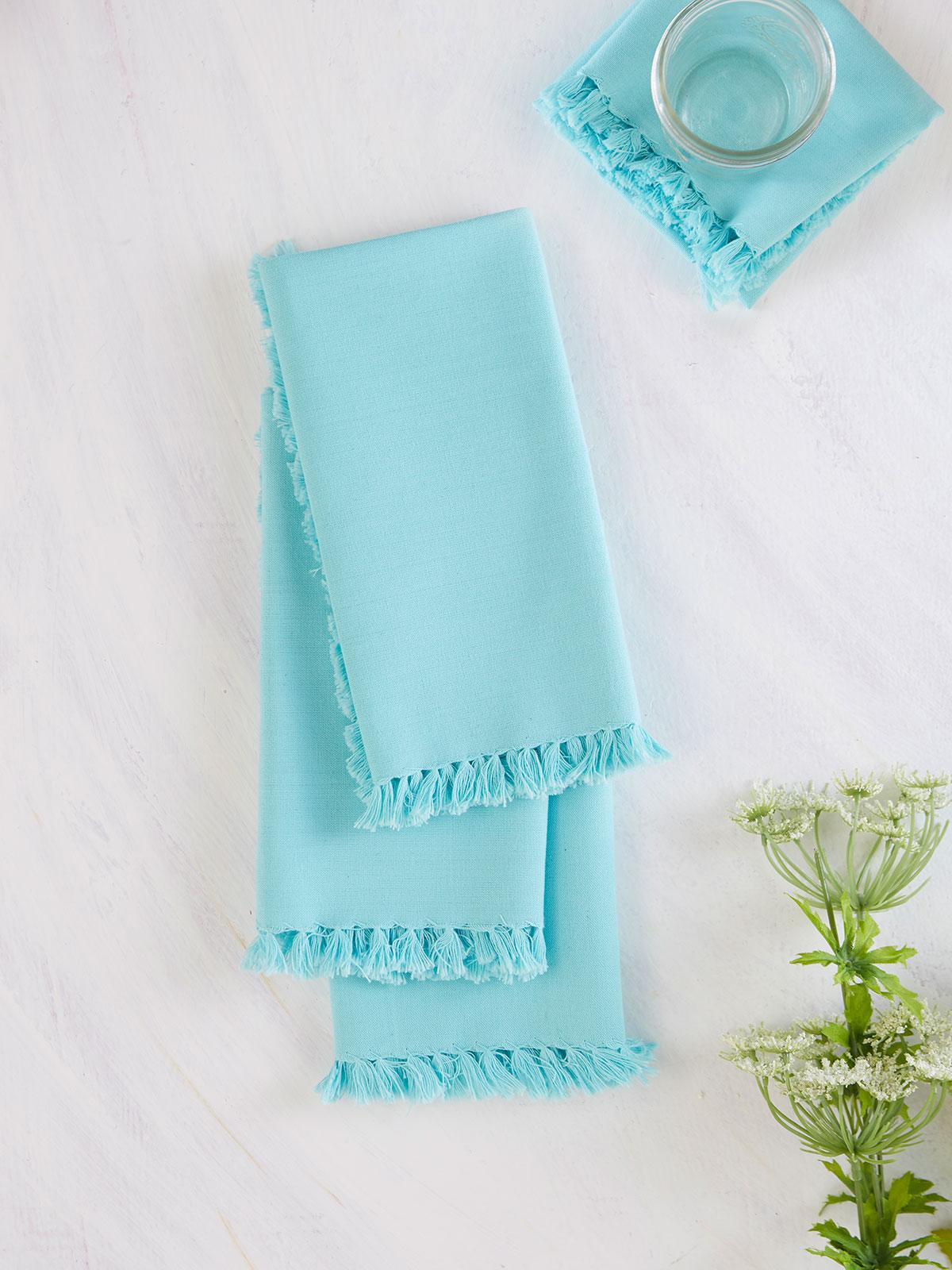Essential Napkin Set of 4 - Aqua