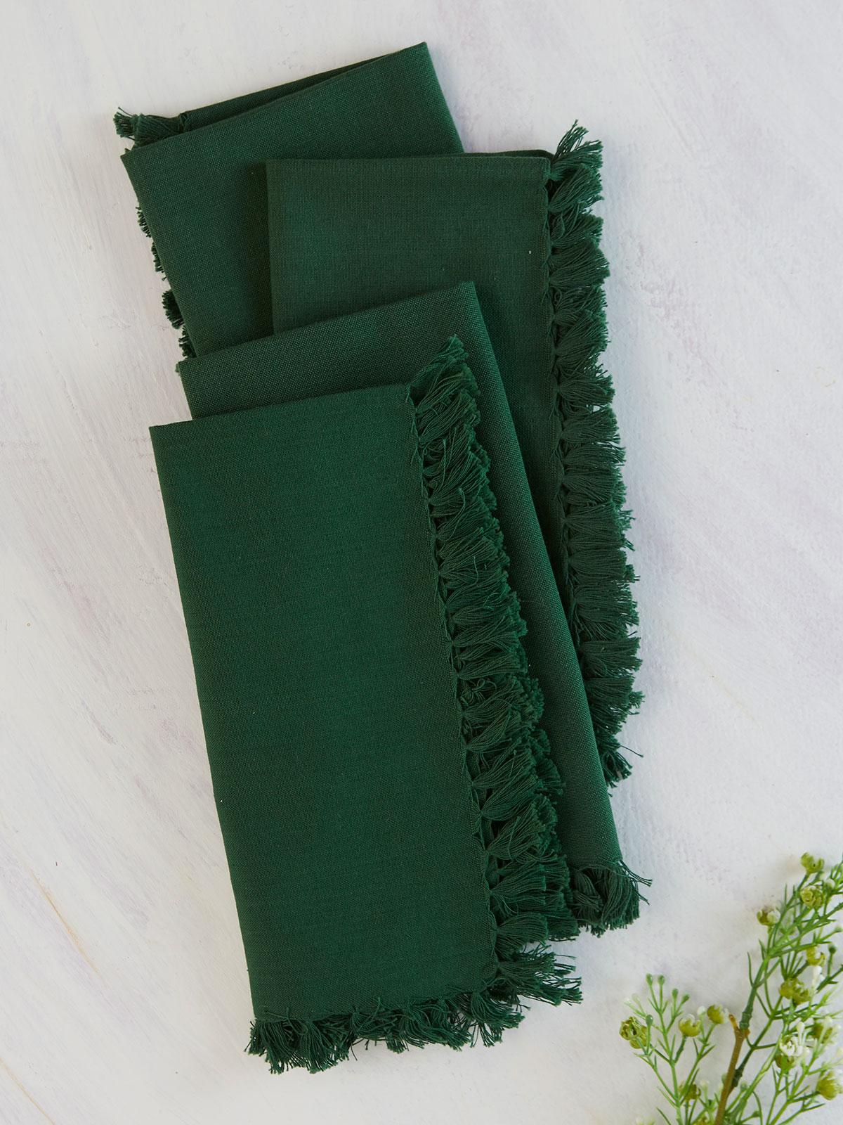 Essential Napkin Set of 4 - Dark Green