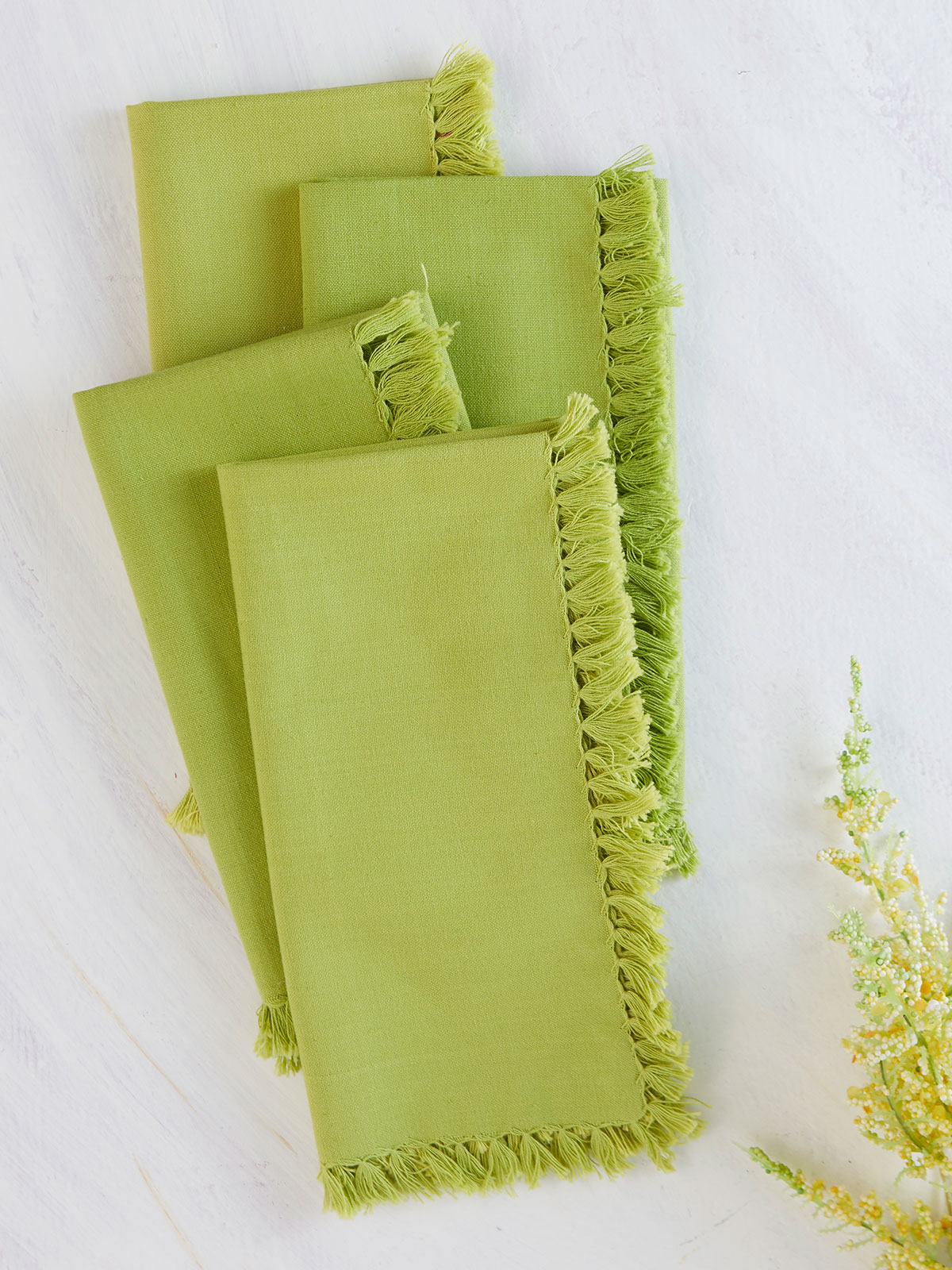 Essential Napkin Set of 4 - Light Green