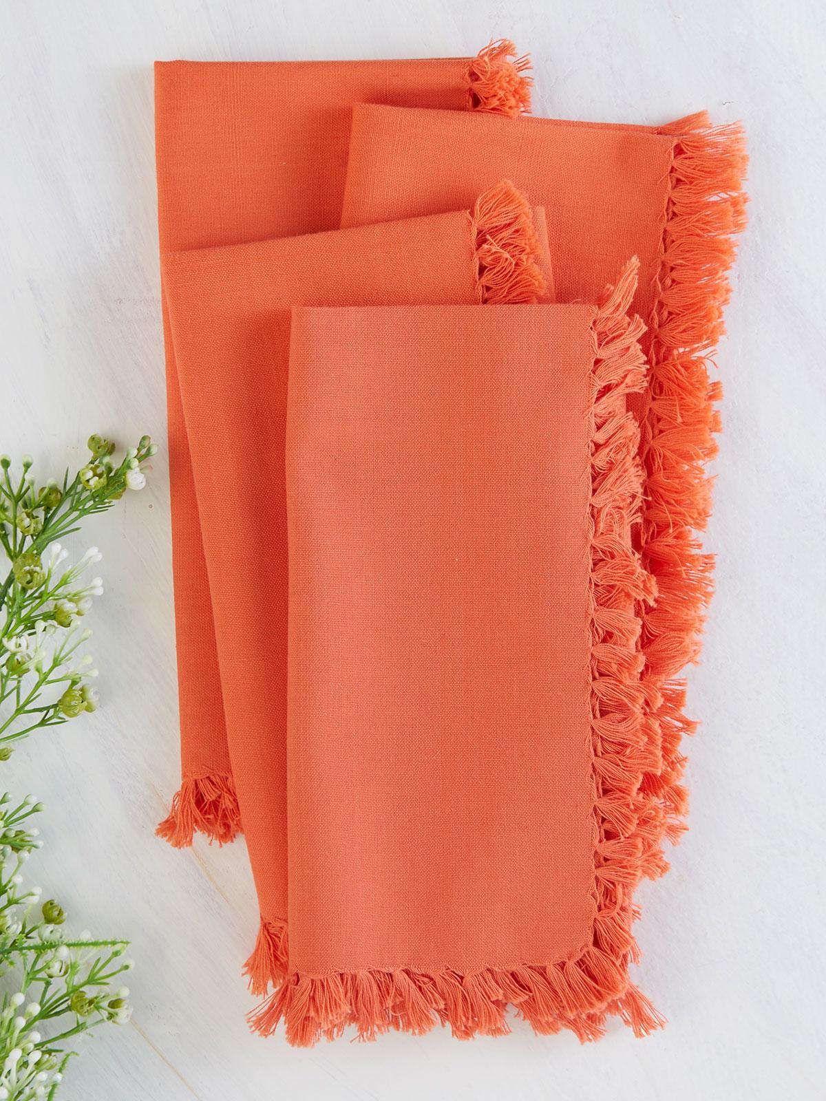 Essential Napkin Set of 4 - Orange