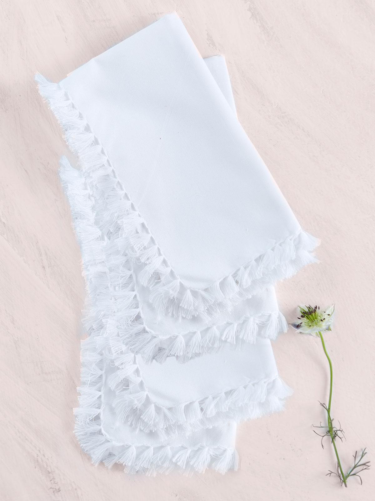 Essential Napkin Set of 4 - White