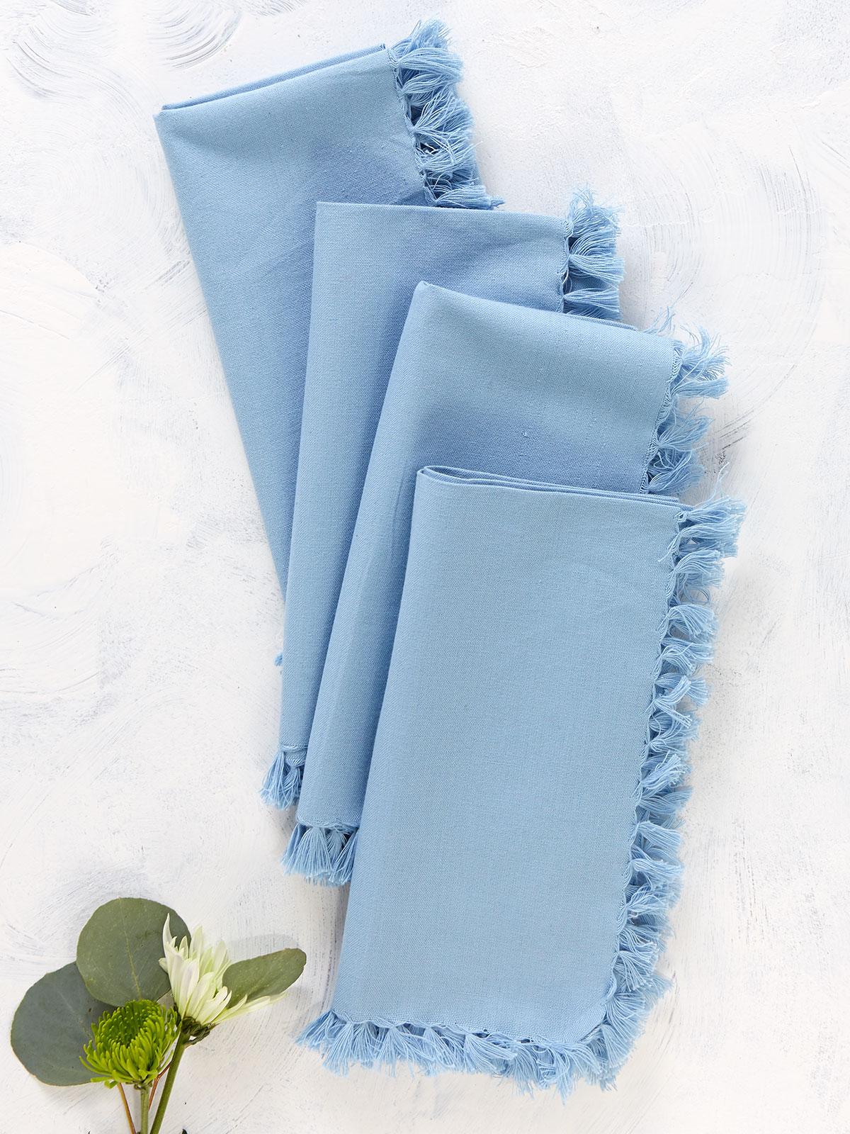 Essential Napkin Set of 4 - Light Blue