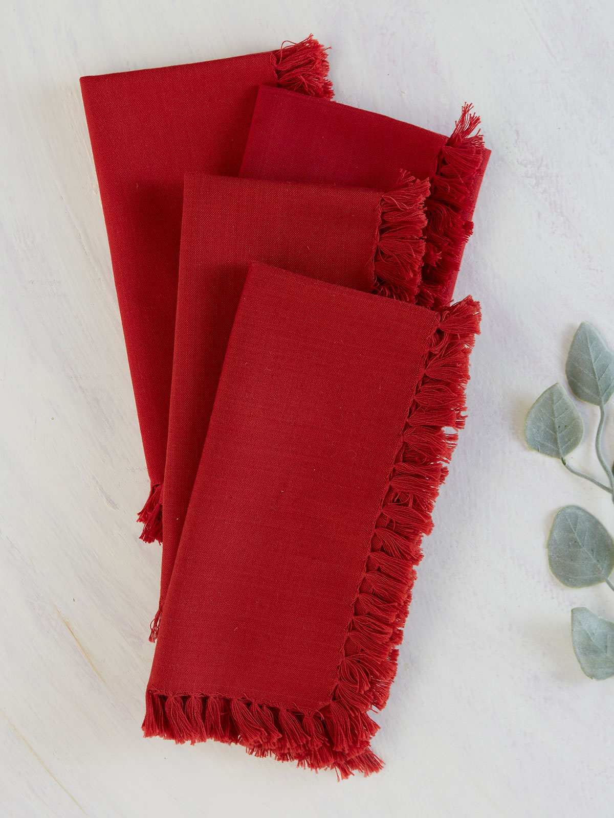Essential Napkin Set of 4 - Red