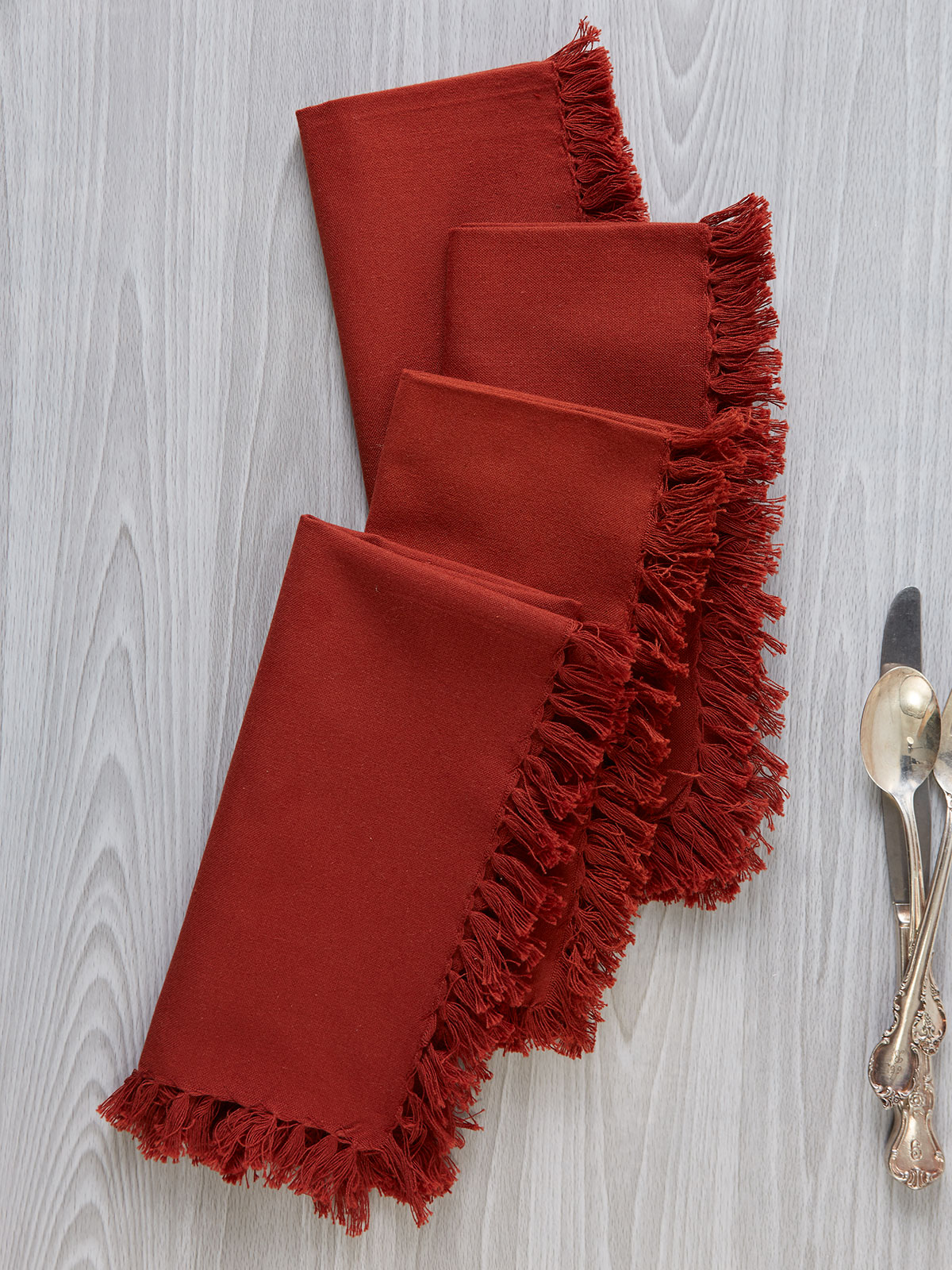 Essential Napkin Set of 4 - Rust