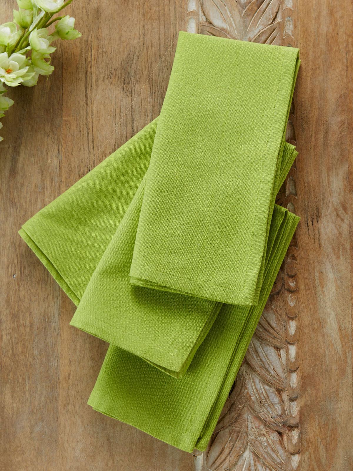 Hemmed Essential Napkin Set of 4 - Light Green