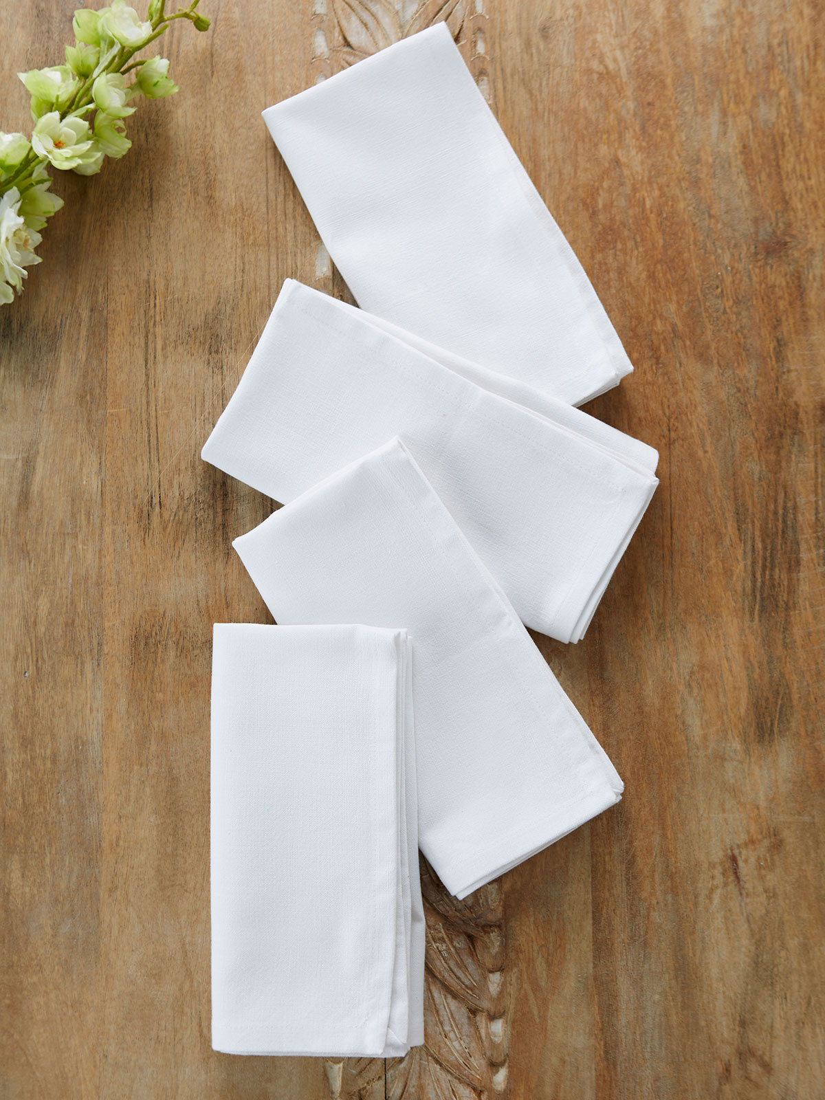 Hemmed Essential Napkin Set of 4 - White