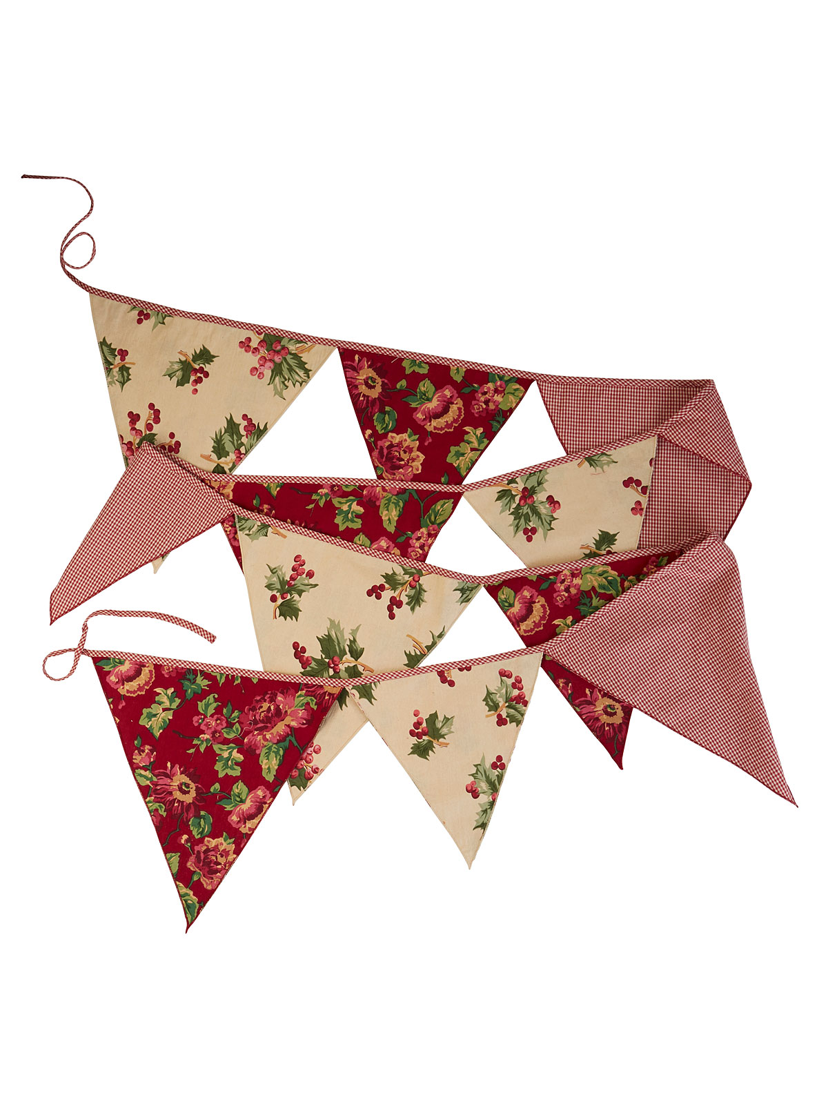 Christmas Patchwork Party Pennants